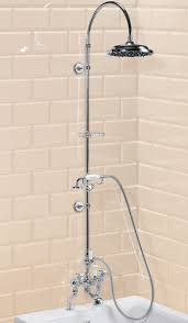 deck mounted bath shower mixer with rigid riser and curved arm