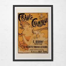 e bureau reims vintage nouveau print epoque print chagne