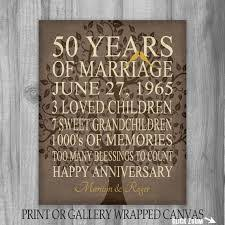 anniversary gifts personalized 50th wedding anniversary gift print parents anniversary gift