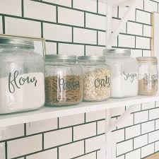 labels for kitchen canisters amazing food canister labels kitchen pantry lettered jar pict