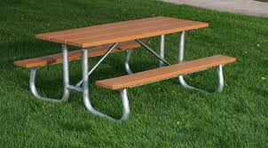 recycled plastic picnic tables galvanized frame recycled plastic picnic table et t distributors inc
