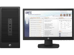 ordinateur hp bureau ordinateur de bureau hp 280 g2 i3 6100 4gb 500 gb écran