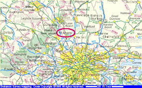 map of st albans st albans in hertfordshire