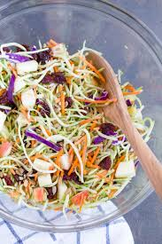 broccoli slaw with apples and dried cherries easy versatile