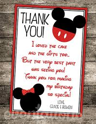 Mickey Mouse Birthday Invitation Card Oh