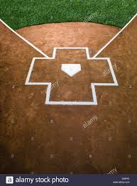 Home Plate Baseball Close Up Of Home Plate Batters Box Stock Photo Royalty Free