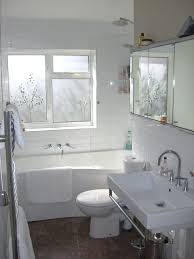 Small Bathroom Window Curtains by Bathroom White Sink And Toilet On The Floor Plus Gray Shower