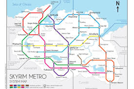 commute map skyrim s subway map makes the morthal solitude commute so much