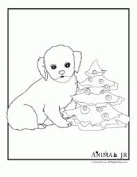 christmas printables puppy coloring pages animal jr