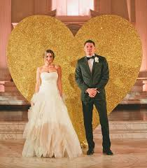 wedding backdrop gold gold glitter heart wedding backdrop deer pearl flowers
