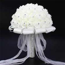 Wedding Bouquets Cheap In Stock 2017 Wedding Bouquet Stunning Crystal Artificial Wedding