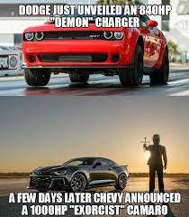 Demon Memes - muscle car collection camaro exorcist vs dodge demon memes