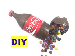 chocolate coke bottle coca cola cake filled with smarties and