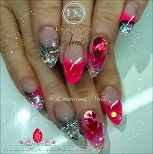 pink and silver nail designs