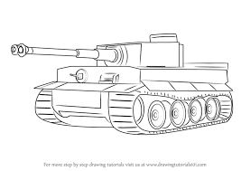 learn how to draw a tiger tank military step by step drawing