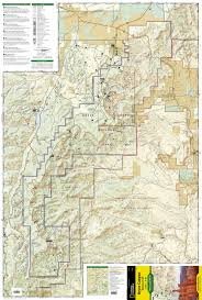 Escalante Utah Map by Bryce Canyon National Park National Geographic Trails Illustrated