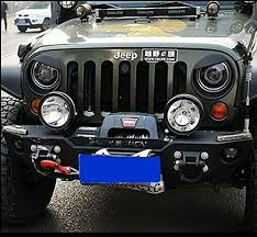 jeep wrangler light covers amazon com sunluway black bezels front light headlight angry