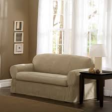 Sofa Slipcovers With Separate Cushion Covers by Classic Slipcovers Brushed Twill 2 Pc Slipcover Hayneedle