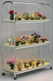 ba3 flora cart 4 ft 3 shelf plant stand u2013 indoor gardening supplies