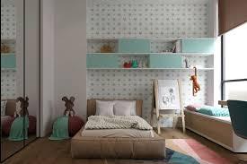 chambre ado gar輟n york papel de pared y estantes flotantes habitación para niños