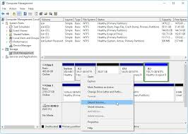 windows 10 disk management the built in disk partition manager