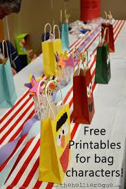 free sesame street printables character bags hollie
