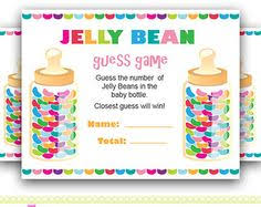baby shower guessing colorful jelly beans guess how many jelly beans for