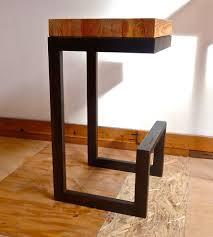 Reclaimed Wood  Steel Barstool Home Furniture DangerMade - Classic home furniture reclaimed wood