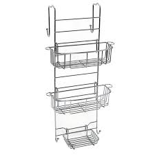zenith products over the shower door caddy stainless steel
