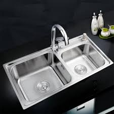 double sinks kitchen kemaidi kitchen stainless steel sink vessel kitchen double bowl