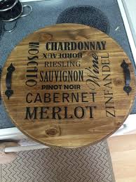 themed serving tray wine themed serving tray food and drink platter wood handpainted