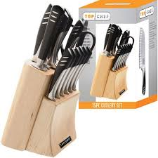 walmart kitchen knives top chef 15 knife set with block stainless steel walmart com