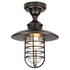Hton Bay Dual Purpose 1 Light Outdoor Hanging Oil Rubbed Bronze