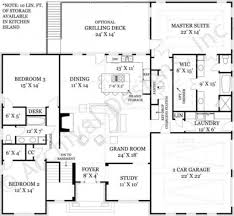 mystic lane retirement house plan ranch floor plan