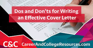 Writing An Effective Cover Letter Tips For Writing An Effective Cover Letter Career And College