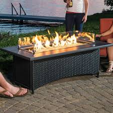 attractive outdoor gas fire pit table gas fire pits woodlanddirect