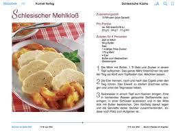 schlesische küche schlesische küche komet verlag in ibooks