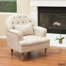 Knight Home Decor Knight Home Anastasia Cream Tufted Chair