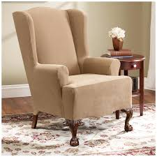 Slipcovers For Sofas And Chairs by Wingback Chair Slipcover For Comfortable Seating Homesfeed