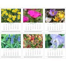 garden flowers photography 2017 calendar loose leaf refill for cd