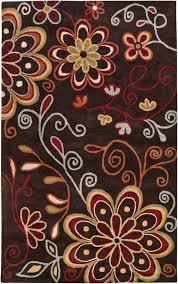 Brown Paisley Rug Surya Athena Ath5037 Brown Area Rug Free Shipping