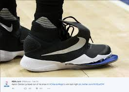 nba player aaron gordon wears height increasing insoles even when