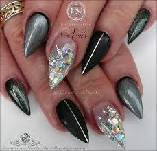 luminous nails black matt black steel grey ombre u0026 silver
