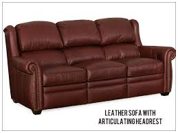 Sofas With Recliners Reclining Leather Articulating Headrest Sofas Recliners And Chairs