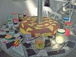 Paint Patio Umbrella Painted Patio Umbrella Marble Table Dinicachaos