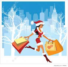 christmas shopping bags christmas shopping illustration