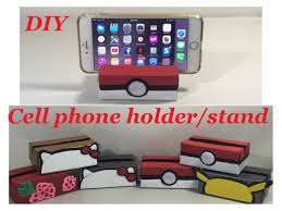 Cell Phone To Desk Phone Diy Desktop Cell Phone Holder Stand Pokemon Pokeball Pikachu