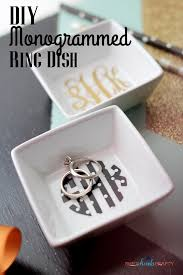 monogrammed dishes diy monogrammed ring dish shes kinda crafty