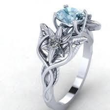 elvish wedding rings buy a handmade oh lord this custom cut sapphire moon in elvish