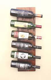 rustic wood wine rack wall mounted 6 bottle wine display